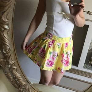 NWT gilly Hicks mini yellow floral skirt XS